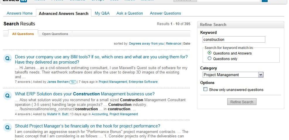 Construction Project Management Questions