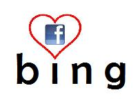 facebook loves bing