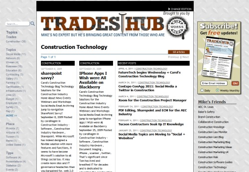 Construction Technology in the Trades Hub
