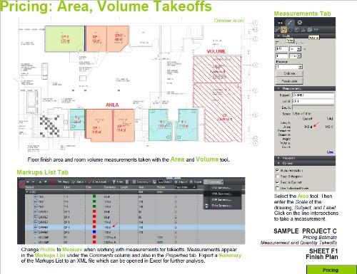 Estimating Takeoff with BlueBeam PDF Area Volume