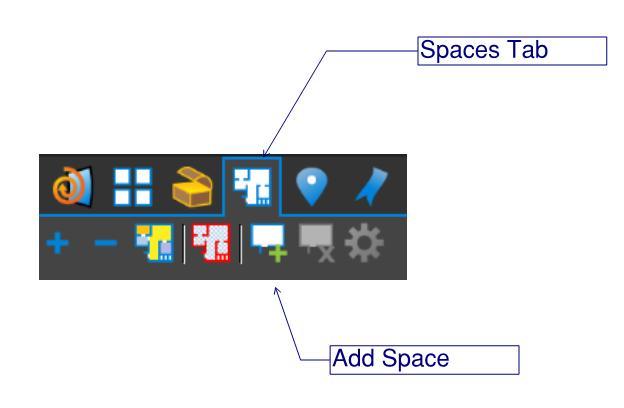 Spaces Tab in Bluebeam Revu