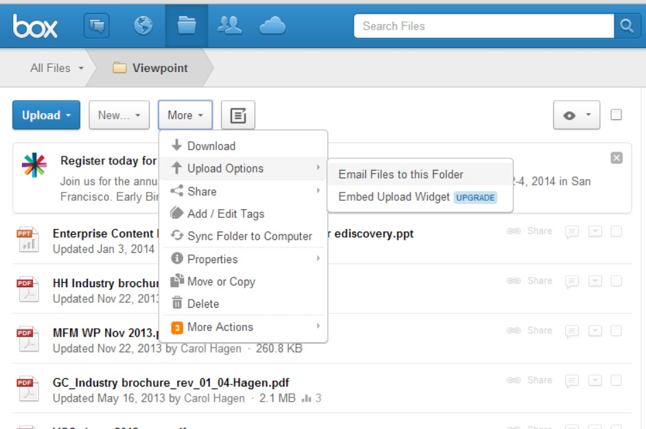 Email Your Files to a Box Folder