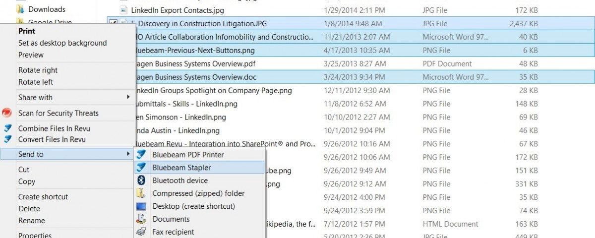 Convert Multiple File Types to PDF in One Step with Bluebeam Stapler
