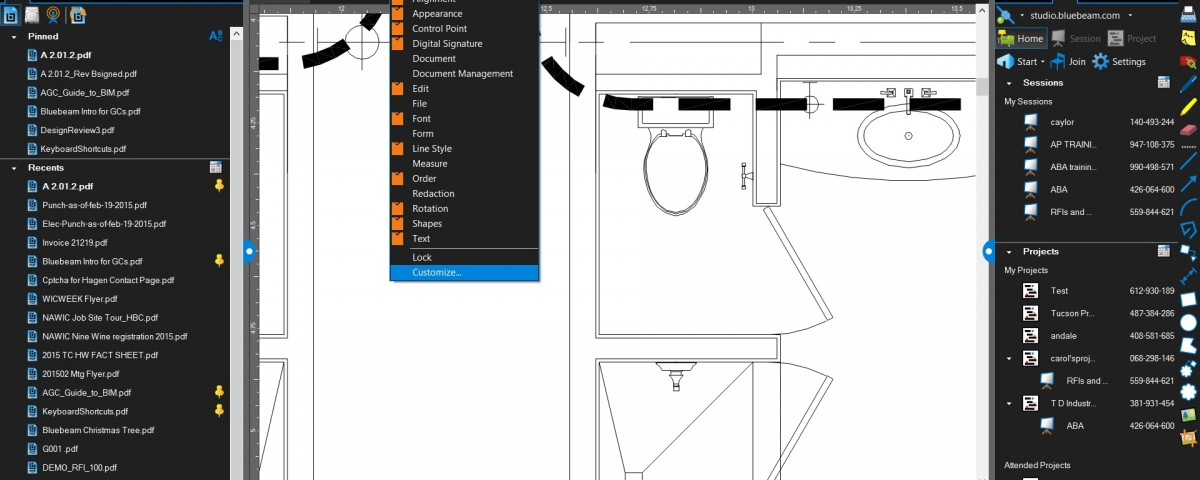 Bluebeam 2015 Tip: How to Add Cloud+ to Profiles, Tool Chest