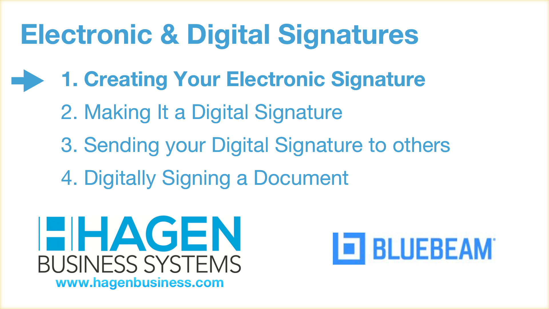 How to create an electronic signature in Bluebeam Revu