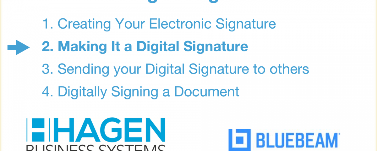 How to create a Bluebeam digital signature