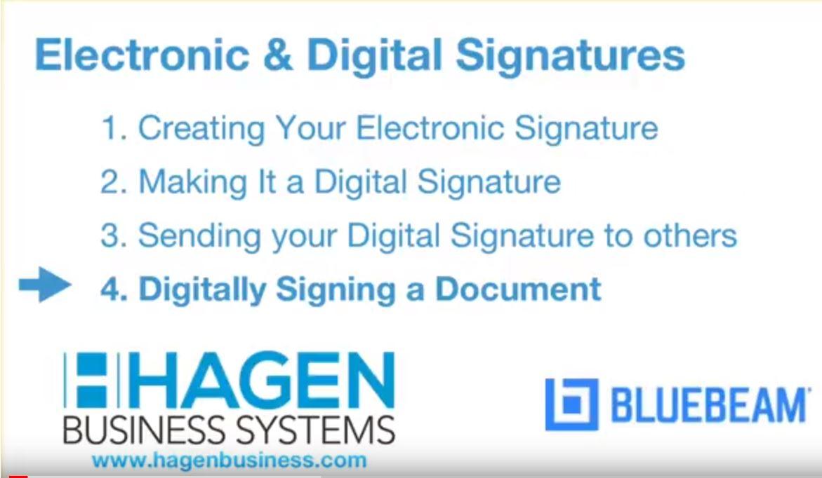 Digital Signatures in Bluebeam Revu 2018 - Hagen Business